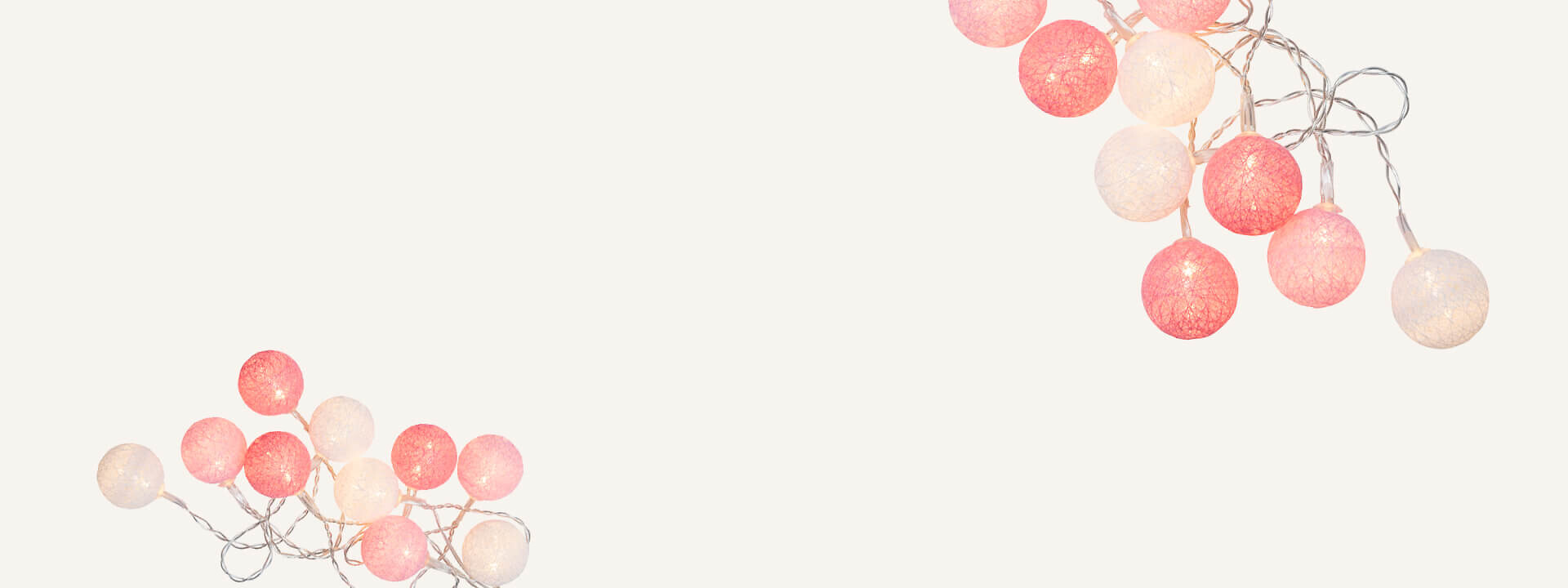 Roosa nauha -koristevalot